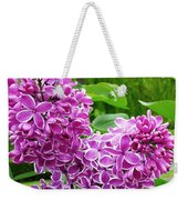 This Lilac Has Flowers With A White Edging.1 Weekender Tote Bag