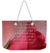 This Little Rose On Digital Linen Weekender Tote Bag