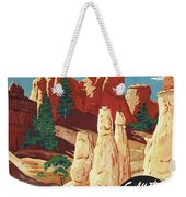 This Summer - Visit Bryce Canyon National Par, Utah, Usa - Retro Travel Poster - Vintage Poster Weekender Tote Bag