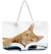 This Tabby Cat Loves Books  Weekender Tote Bag