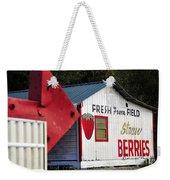 This Way For Strawberries Weekender Tote Bag