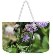 Thistle Flower Weekender Tote Bag