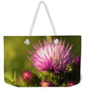 Thistle Flowers Weekender Tote Bag