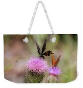 Thistle Pollinators - Large And Small Weekender Tote Bag