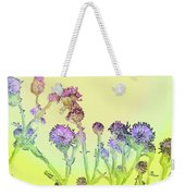 Thistles Under The Sun Weekender Tote Bag