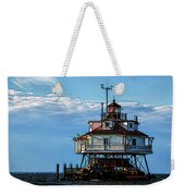 Thomas Point Lighthouse Weekender Tote Bag