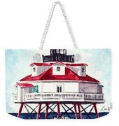 Thomas Point Shoal Lighthouse Annapolis Maryland Chesapeake Bay Light House Weekender Tote Bag
