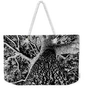 Thorn Tree Black And White Weekender Tote Bag