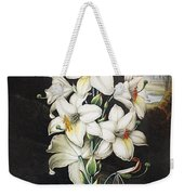 Thornton: White Lily Weekender Tote Bag