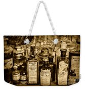 Those Old Apothecary Bottles In Sepia Weekender Tote Bag