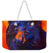 Thoughtful - Black Bear Weekender Tote Bag