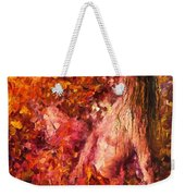 Thoughts Of Pleasure - Palette Knife Oil Painting On Canvas By Leonid Afremov Weekender Tote Bag