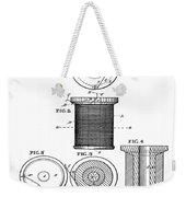 Thread Spool Patent 1877  Weekender Tote Bag