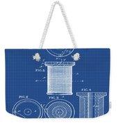 Thread Spool Patent 1877 Blueprint Weekender Tote Bag