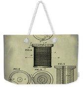 Thread Spool Patent 1877 Weathered Weekender Tote Bag