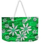 Three And Twenty Flowers On Green Weekender Tote Bag