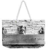 Three Angels On A Mantel Weekender Tote Bag