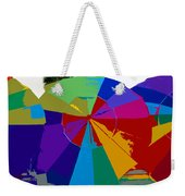 Three Beach Umbrellas Weekender Tote Bag