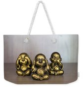 Three Buddha Statue Weekender Tote Bag