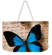 Three Butterflies Weekender Tote Bag