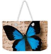 Three Butterflies Weekender Tote Bag