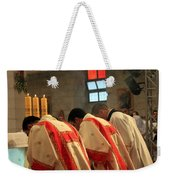 Three Candles Weekender Tote Bag