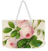 Three Centifolia Roses With Buds Weekender Tote Bag