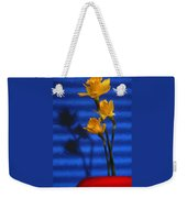 Three Cheers - Yellow Daffodils In A Red Bowl Weekender Tote Bag