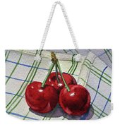 Three Sweet Cherries By Irina Sztukowski Weekender Tote Bag