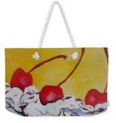 Three Cherries Weekender Tote Bag