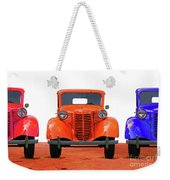 Three Colored Cars Weekender Tote Bag