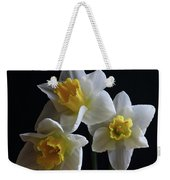 Three Daffodil Weekender Tote Bag