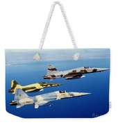 Three F-5e Tiger II Fighter Aircraft Weekender Tote Bag