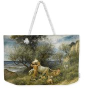 Three Faun With Cow And Calf Weekender Tote Bag