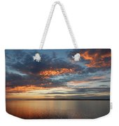 Three Fiery Clouds Weekender Tote Bag