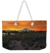 Mount Jefferson At Sunset Weekender Tote Bag