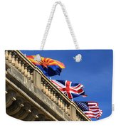 Three Flags At London Bridge Weekender Tote Bag