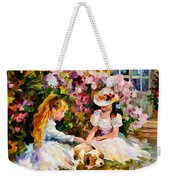 Three  Friends Weekender Tote Bag by Leonid Afremov
