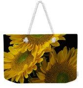Three Golden Sunflowers Weekender Tote Bag