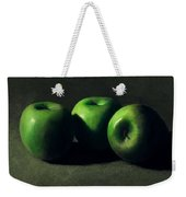 Three Green Apples Weekender Tote Bag