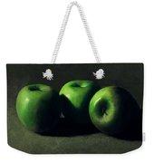 Three Green Apples Weekender Tote Bag
