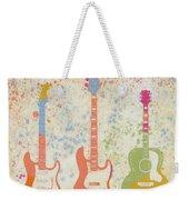 Three Guitars Paint Splatter Weekender Tote Bag