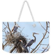 Three Herons Weekender Tote Bag