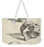 Three Human Skulls Weekender Tote Bag