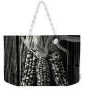 Three Indian Corn In Black And White Weekender Tote Bag