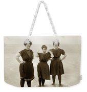 Three Ladies Bathing In Early Bathing Suit On Carmel Beach Early 20th Century. Weekender Tote Bag