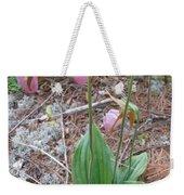 Three Lady Slippers Weekender Tote Bag