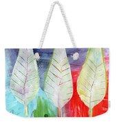 Three Leaves Of Good Weekender Tote Bag by Linda Woods