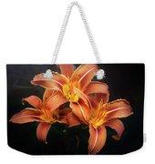 Three Lilies Weekender Tote Bag