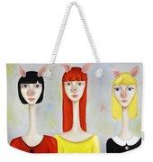 Three Little Pig Ladies  Weekender Tote Bag